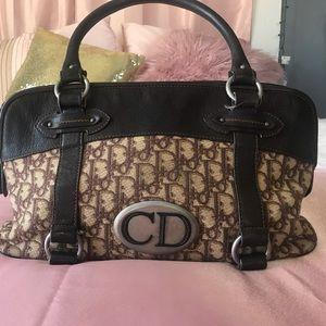 Vintage monogram Christian Dior purse